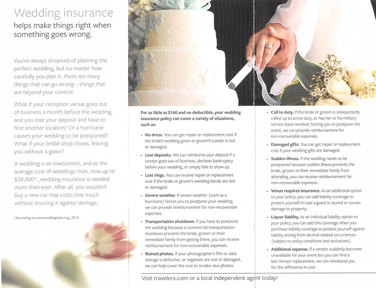 Wedding And Event Insurance Cis Insurance Agency In Hamilton Alabama